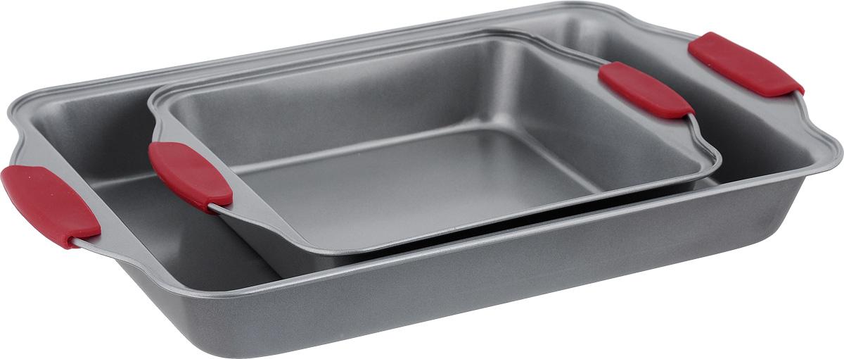 Набор форм для запекания Walmer, 2 штW081212006Набор Walmer включает в себя 2 формы для запекания. Изделия выполнены из высококачественной коррозионностойкой стали. Долговечное антипригарное покрытие не содержит PFOA и позволяет легко вынимать готовые блюда из форм. Формы оснащены жаропрочными силиконовыми ручками. Такой набор станет полезным приобретением для любителей домашней выпечки. Изделия можно мыть в посудомоечной машине. Внутренний размер форм: 20,5 см х 20 см, 33 см х 24 см. Внешний размер форм: 27 см х 22 см х 5 см, 40,5 см х 25 см х 5 см.
