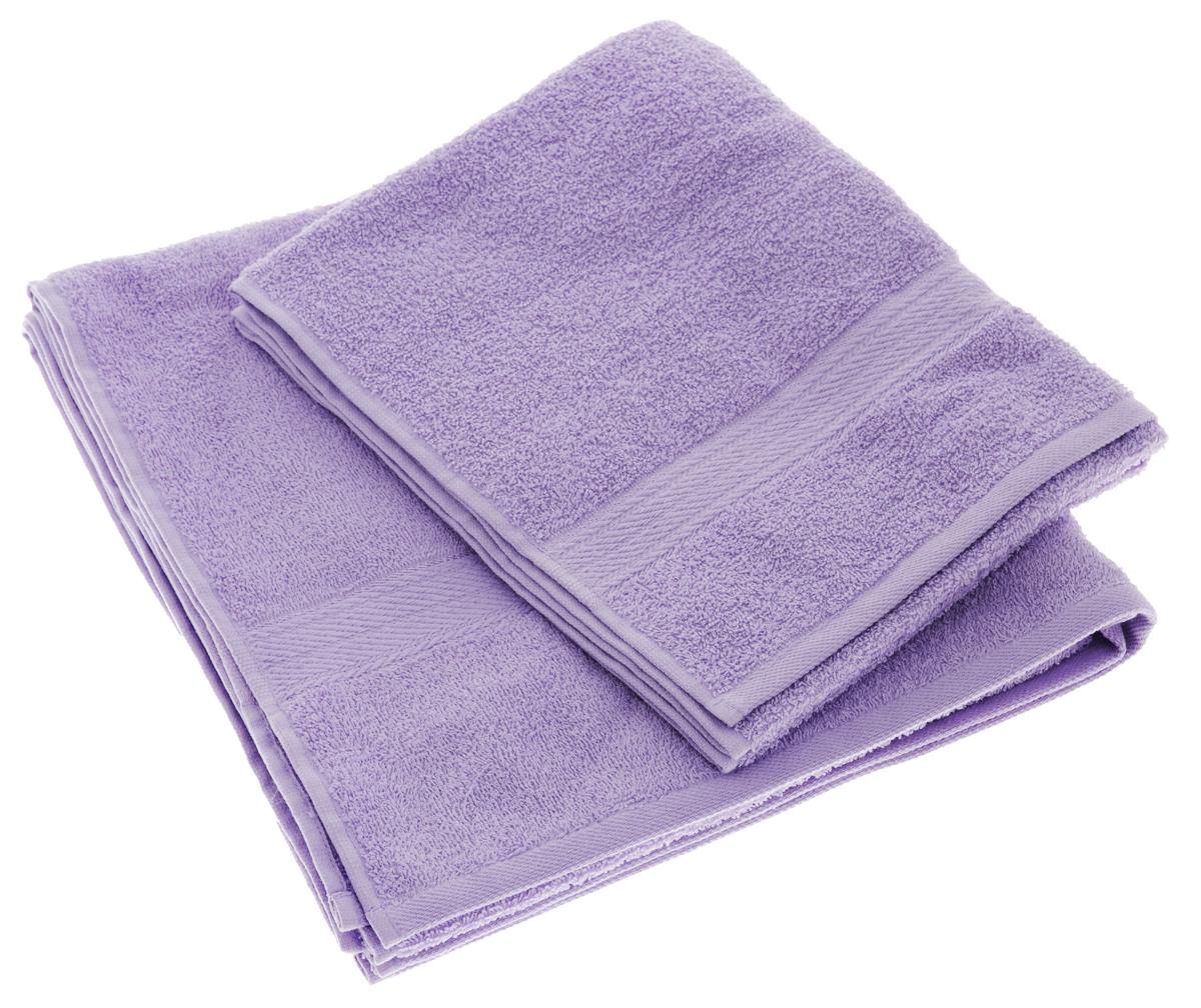 Набор махровых полотенец Aisha Home Textile, цвет: сиреневый, 2 шт. УзТ-НПМ-102УзТ-НПМ-102-05Набор Aisha Home Textile состоит из двух махровых полотенец разного размера. В состав входит только натуральное волокно - 100% хлопок. Лаконичные бордюры подойдут для любого интерьера ванной комнаты. Полотенца прекрасно впитывают влагу и быстро сохнут. При соблюдении рекомендаций по уходу не линяют и не теряют форму даже после многократных стирок. Комплектация: 2 шт.