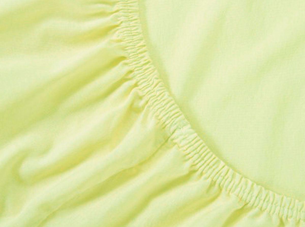 Простыня на резинке Хлопковый Край, цвет: лимон, размер 120 х 200 см120тр-ПнРБренд: Хлопковый Край. Чебоксары, Россия Коллекция: Радуга желаний Материал: ТРИКОТАЖ (кулирка) - 100% хлопок; Плотность 125 гр/м2 - нежное, гладкое и прочное; Активное крашение - простынь не теряет цвет; Гиппоалергенно и безопасно даже для детей; Стойкое к стиркам - не образуются катышки Высота бортика 20 см - подходит для 99% матрасов; Резинка по всему периметру - идеально садится на матрас; Сертификат ЕАС и знак Eco Friendly