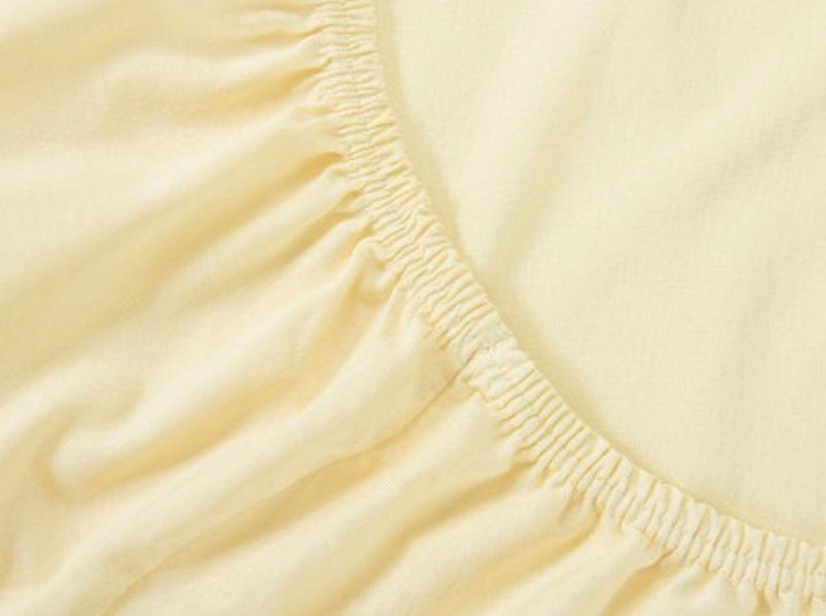 Простыня на резинке Хлопковый Край, цвет: молоко, размер 140 х 200 см - Хлопковый Край140тр-ПнРБренд: Хлопковый Край. Чебоксары, Россия Коллекция: Радуга желаний Материал: ТРИКОТАЖ (кулирка) - 100% хлопок; Плотность 125 гр/м2 - нежное, гладкое и прочное; Активное крашение - простынь не теряет цвет; Гиппоалергенно и безопасно даже для детей; Стойкое к стиркам - не образуются катышки Высота бортика 20 см - подходит для 99% матрасов; Резинка по всему периметру - идеально садится на матрас; Сертификат ЕАС и знак Eco Friendly