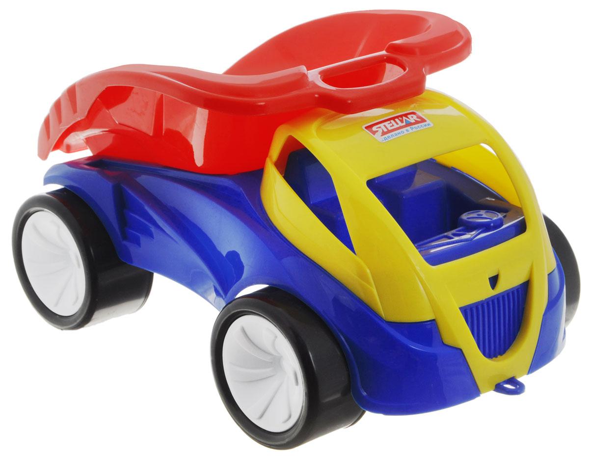 Stellar Грузовик Томагавк01431Грузовик Stellar Томагавк с оригинальным дизайном и обтекаемой формой, отлично подойдет ребенку для различных игр. Вместительный кузов машины поднимается и опускается. Большие колеса обеспечивают машине устойчивость и хорошую проходимость. В кабину без стекол можно при желании посадить маленькую игрушку, которая будет водителем. А еще машину можно возить за веревочку - для этого предусмотрено отверстие на бампере грузовика. Грузовик выполнен из прочного пластика, который позволяет выдерживать большие нагрузки. Ваш юный строитель сможет прекрасно провести время дома или на улице, подвозя к месту игрушечной стройки необходимые предметы на этом красочном грузовике.