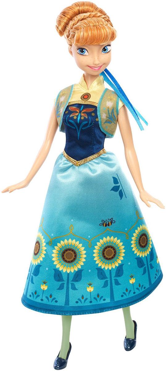 Disney Frozen Кукла Анна Веселый день рожденияDGF54_DGF57Кукла Disney Frozen Холодное сердце. Анна поможет вашей малышке окунуться в сказочный мир. Куколка выполнена в виде главной героини диснеевского мультфильма Холодное сердце. Куколка собралась на день рождения и одета в невероятно красивое голубое платье с подсолнухами, а на ногах - синие туфельки на каблучках. Волосы Анны уложены в высокую прическу. Ручки, ножки и голова куколки подвижны. Ваша малышка с удовольствием будет играть с этой куколкой, проигрывая сюжеты из любимого мультфильма или придумывая различные истории.