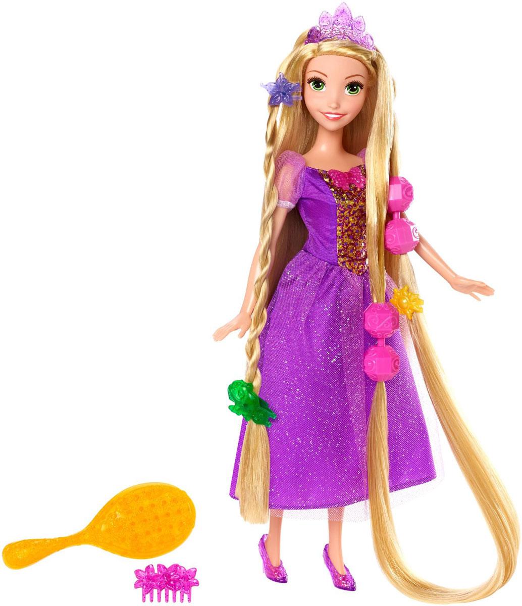 Disney Princess Кукла Рапунцель Сказочные волосыCJP12_DFR34Кукла Disney Princess Рапунцель поможет вашей малышке окунуться в сказочный мир. Куколка выполнена в виде главной героини мультфильма одноименного мультфильма. Она одета в длинное шикарное платье фиолетового цвета, на ногах - красивые туфельки, а на голове - очаровательная диадема. Также в комплект входят расческа, три заколочки, гребешок и четыре оригинальных украшения в виде крупных бусин, благодаря которым ваша дочурка сможет сделать куколке различные прически. Ваша малышка с удовольствием будет играть с принцессой, проигрывая сюжеты из мультфильма или придумывая различные истории.