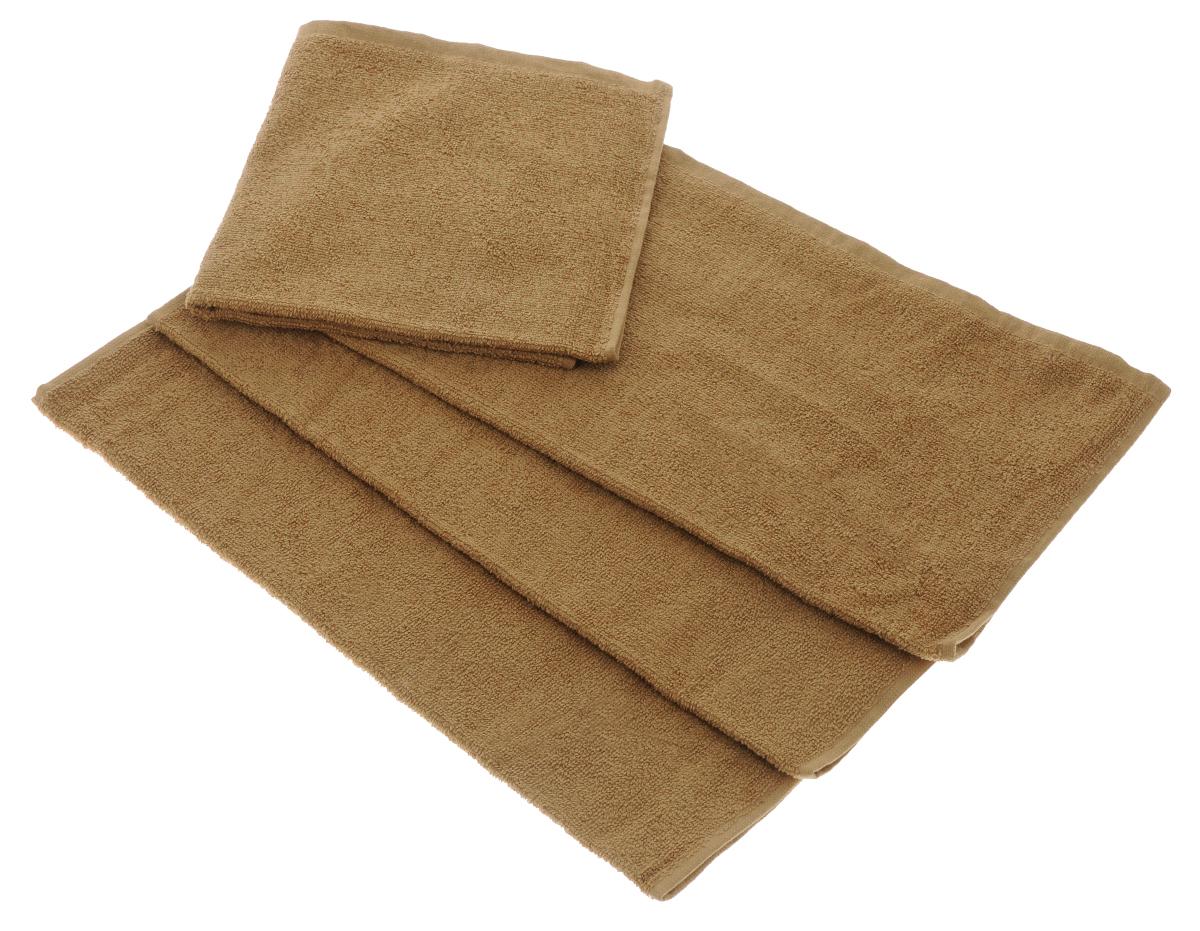 Набор махровых полотенец Aisha Home Textile, цвет: коричневый, 40 х 40 см, 4 штУзТ-НПБ-100-20Набор Aisha Home Textile состоит из 4 махровых полотенец, выполненных из натурального 100% хлопка. Изделия отлично впитывают влагу, быстро сохнут, сохраняют яркость цвета и не теряют формы даже после многократных стирок. Полотенца Aisha Home Textile очень практичны и неприхотливы в уходе. Комплектация: 4 шт.