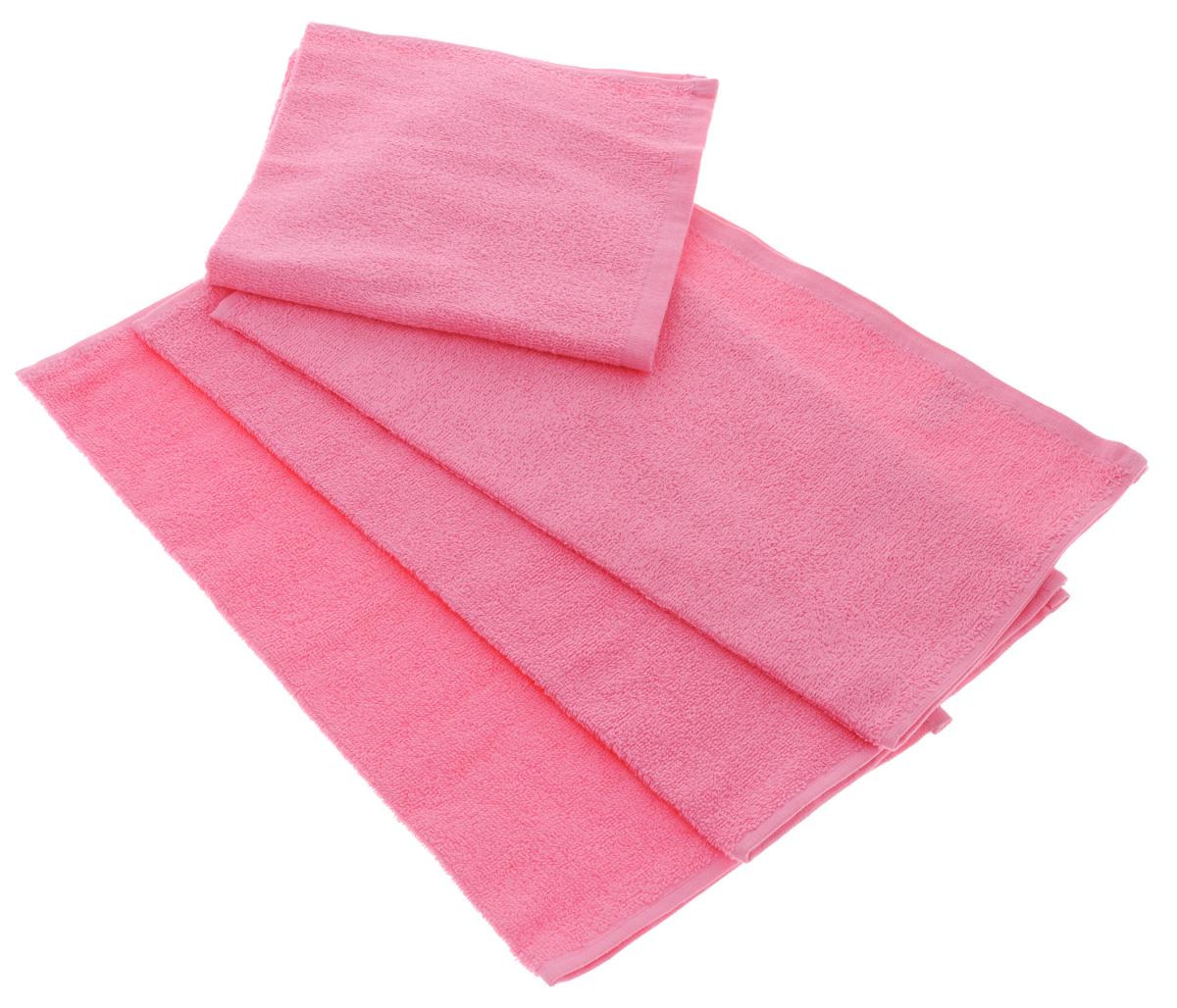 Набор махровых полотенец Aisha Home Textile, цвет: розовый, 40 х 40 см, 4 штУзТ-НПБ-100-04Набор Aisha Home Textile состоит из 4 махровых полотенец, выполненных из натурального 100% хлопка. Изделия отлично впитывают влагу, быстро сохнут, сохраняют яркость цвета и не теряют формы даже после многократных стирок. Полотенца Aisha Home Textile очень практичны и неприхотливы в уходе. Комплектация: 4 шт.