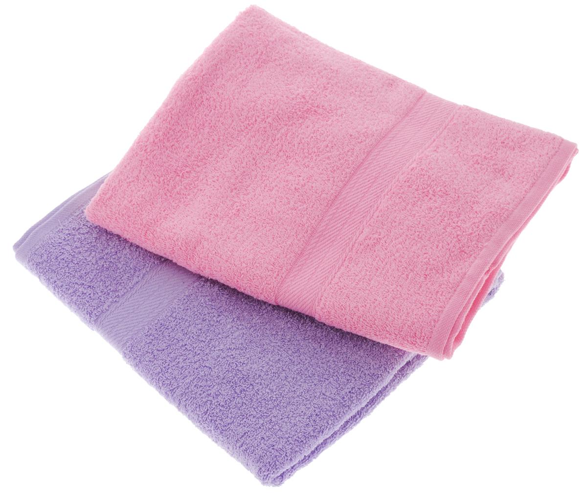 Набор махровых полотенец Aisha Home Textile, цвет: сиреневый, розовый, 70 х 140 см, 2 штУзТ-ПМ-104-05-04Набор Aisha Home Textile состоит из двух махровых полотенец, выполненных из натурального 100% хлопка. Изделия отлично впитывают влагу, быстро сохнут, сохраняют яркость цвета и не теряют формы даже после многократных стирок. Полотенца Aisha Home Textile очень практичны и неприхотливы в уходе. Комплектация: 2 шт.