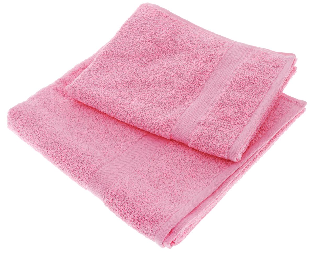 Набор махровых полотенец Aisha Home Textile, цвет: розовый, 2 шт. УзТ-НПМ-102УзТ-НПМ-102-04Набор Aisha Home Textile состоит из двух махровых полотенец разного размера. В состав входит только натуральное волокно - 100% хлопок. Лаконичные бордюры подойдут для любого интерьера ванной комнаты. Полотенца прекрасно впитывают влагу и быстро сохнут. При соблюдении рекомендаций по уходу не линяют и не теряют форму даже после многократных стирок. Комплектация: 2 шт.