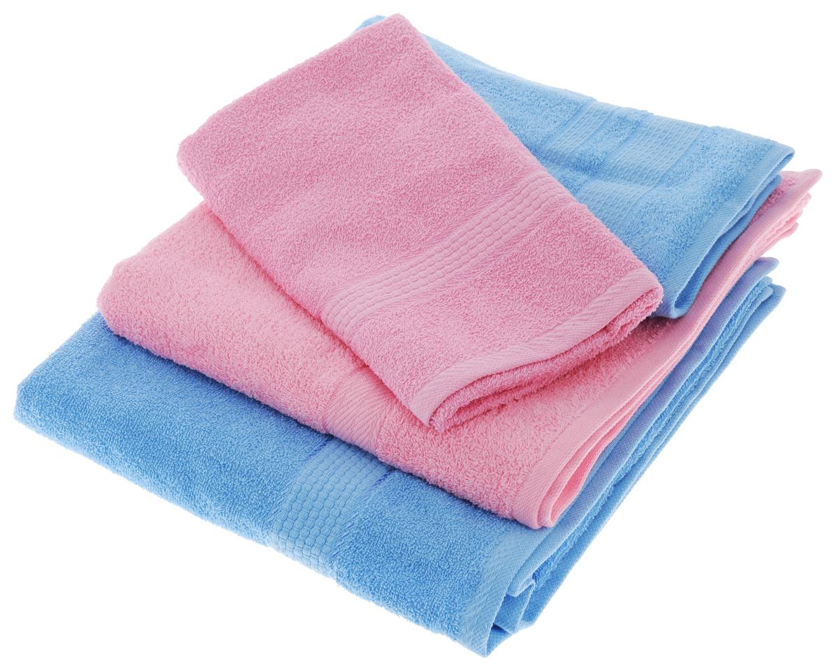 Набор махровых полотенец Aisha Home Textile, цвет: голубой, розовый, 4 штУзТ-ПМ-103-06-04Набор Aisha Home Textile состоит из двух полотенец 50 х 90 см и двух банных 70 х 140 см. Полотенца выполнены из натурального 100% хлопка и махровой ткани. Изделия отлично впитывают влагу, быстро сохнут, сохраняют яркость цвета и не теряют формы даже после многократных стирок. Полотенца Aisha Home Textile очень практичны и неприхотливы в уходе. Комплектация: 4 шт.