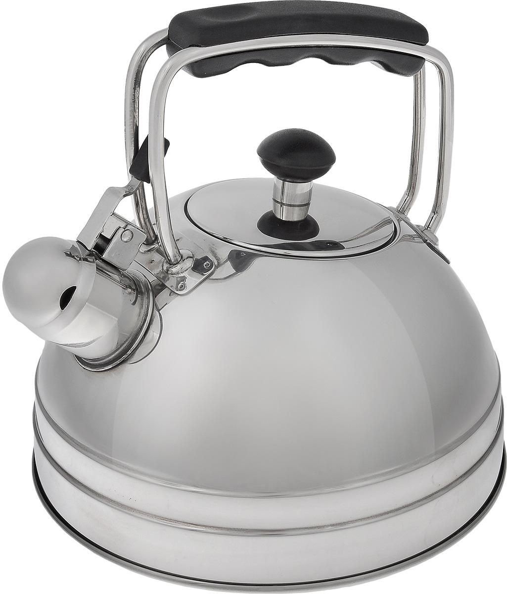 Чайник со свистком Vitesse Odina, 2,5 лVS-1105Чайник Vitesse Odina выполнен из высококачественной нержавеющей стали 18/10 с зеркальной полировкой. Капсулированное дно с прослойкой из алюминия обеспечивает наилучшее распределение тепла. Носик чайника оснащен откидной насадкой-свистком, что позволит вам контролировать процесс подогрева или кипячения воды. Ручка чайника изготовлена из бакелита. Она имеет фиксированное положение. Чайник Vitesse Odina подходит для использования на всех типах плит. Также изделие можно мыть в посудомоечной машине.