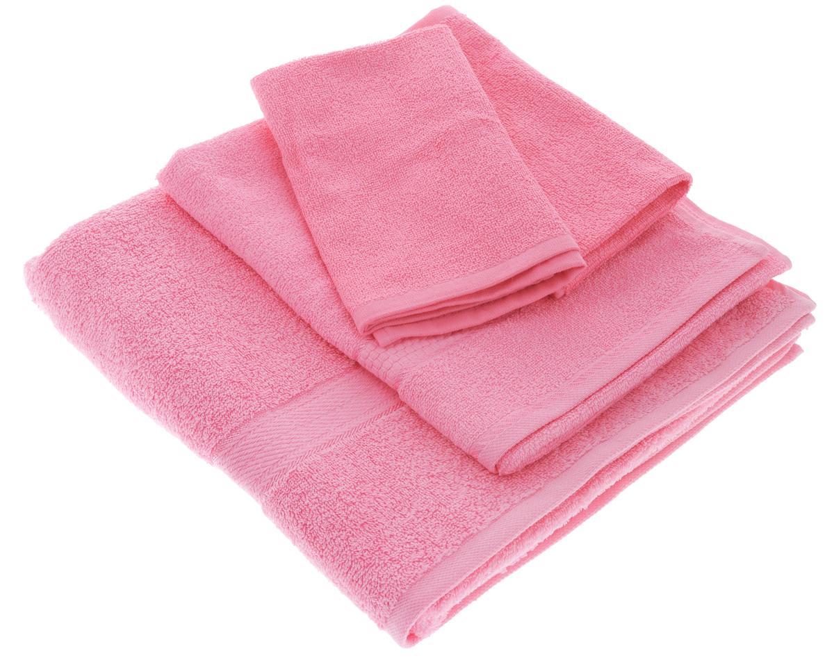 Набор махровых полотенец Aisha Home Textile, цвет: розовый, 4 шт. УзТ-НПБ-101-04УзТ-НПБ-101-04Набор Aisha Home Textile состоит из четырех махровых полотенец разного размера. Полотенца выполнены из натурального 100% хлопка и махровой ткани. Изделия отлично впитывают влагу, быстро сохнут, сохраняют яркость цвета и не теряют формы даже после многократных стирок. Полотенца Aisha Home Textile очень практичны и неприхотливы в уходе. Комплектация: 4 шт.