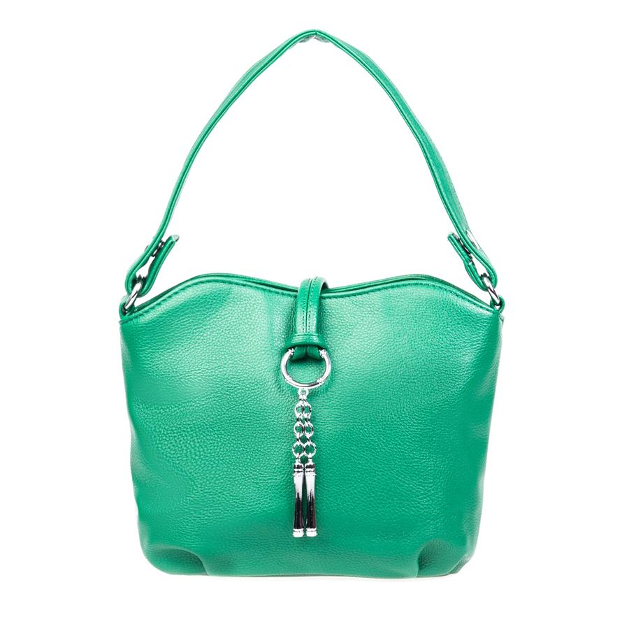 Сумка женская Orsa Oro, цвет: зеленый. D-105/7D-105/7Стильная женская сумка Orsa Oro выполнена из искусственной кожи, оформлена оригинальной подвеской. Изделие содержит три отделения, два из которых закрываются на магнитные кнопки, а третье на молнию. Внутри расположены: два накладных кармашка для мелочей и врезной карман на молнии. На задней стороне изделия расположен врезной карман на молнии. Сумка оснащена съемным плечевым ремнем регулируемой длины и практичной съемной лямкой. Оригинальный аксессуар позволит вам завершить образ и быть неотразимой.