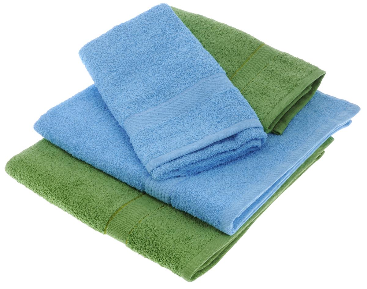 Набор махровых полотенец Aisha Home Textile, цвет: голубой, зеленый, 4 штУзТ-ПМ-103-06-08Набор Aisha Home Textile состоит из двух полотенец 50 х 90 см и двух банных 70 х 140 см. Полотенца выполнены из натурального 100% хлопка и махровой ткани. Изделия отлично впитывают влагу, быстро сохнут, сохраняют яркость цвета и не теряют формы даже после многократных стирок. Полотенца Aisha Home Textile очень практичны и неприхотливы в уходе. Комплектация: 4 шт.