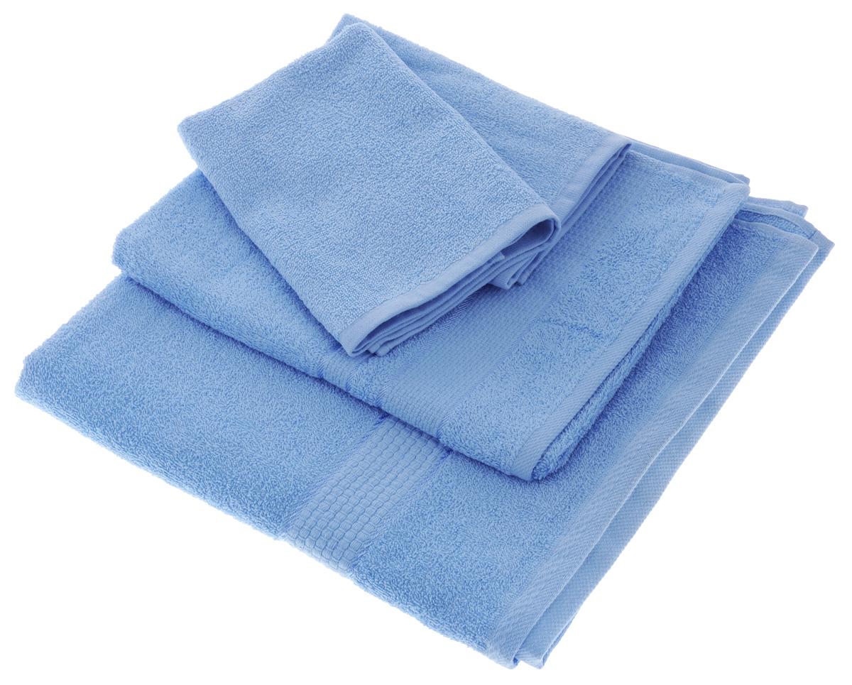 Набор махровых полотенец Aisha Home Textile, цвет: голубой, 4 шт. УзТ-НПБ-101УзТ-НПБ-101-06Набор Aisha Home Textile состоит из четырех махровых полотенец разного размера. Полотенца выполнены из натурального 100% хлопка и махровой ткани. Изделия отлично впитывают влагу, быстро сохнут, сохраняют яркость цвета и не теряют формы даже после многократных стирок. Полотенца Aisha Home Textile очень практичны и неприхотливы в уходе. Комплектация: 4 шт.