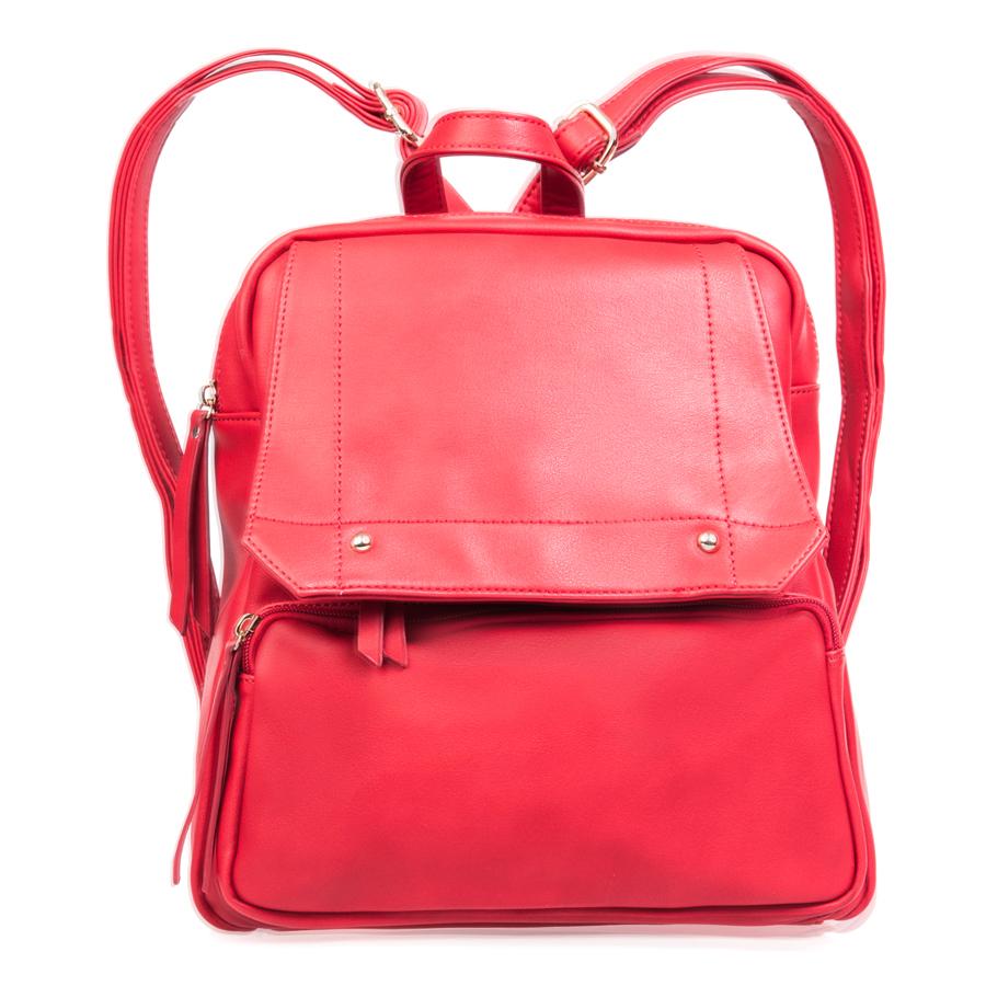 Рюкзак женский Orsa Oro, цвет: красный. D-142/13D-142/13Стильный женский рюкзак Orsa Oro выполнен из искусственной кожи, оформлен металлической фурнитурой. Изделие содержит отделение, закрывающееся на застежку- молнию. Внутри расположены два накладных кармашка для мелочей и врезной карман на молнии. Лицевая сторона рюкзака дополнена клапаном, под которым расположен врезной карман на молнии, и накладным карманом на застежке-молнии. Задняя сторона изделия дополнена врезным карманом на застежке-молнии. Рюкзак оснащен удобными лямками регулируемой длины и петлей для подвешивания. Оригинальный аксессуар позволит вам завершить образ и быть неотразимой.