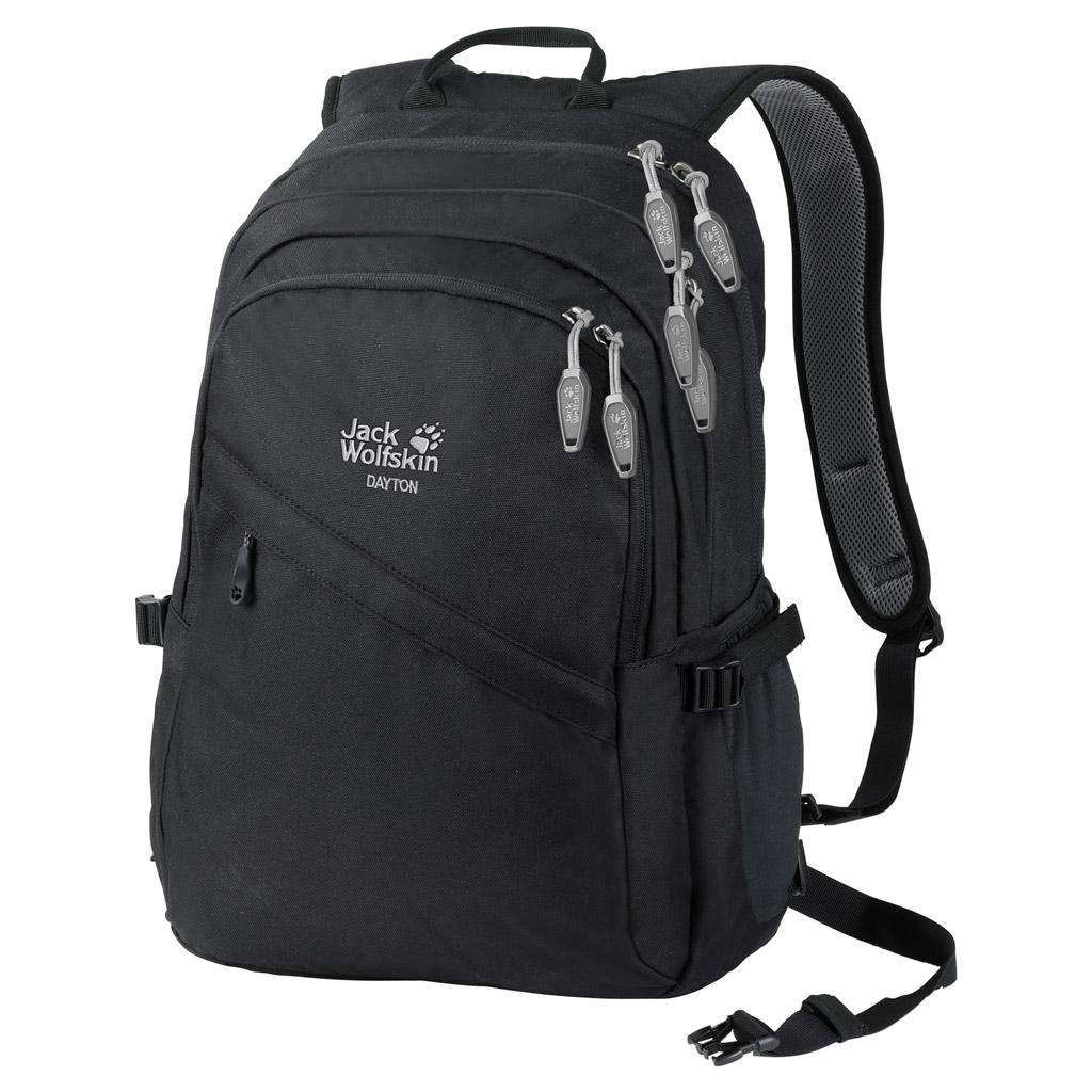 Рюкзак городской Jack Wolfskin DAYTON, цвет: черный, 28 л. 2002481-60002002481-6000Большой городской рюкзак с большим количеством отделений