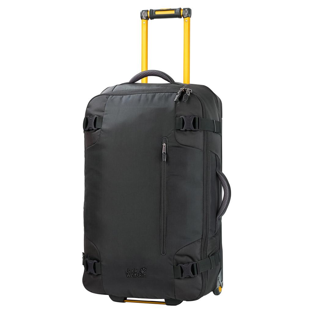 Чемодан Jack Wolfskin RAILMAN 80, цвет: черный, 80 л. 2003322-60002003322-6000Большой, водоотталкивающий и прочный чемодан на колесиках для путешествий