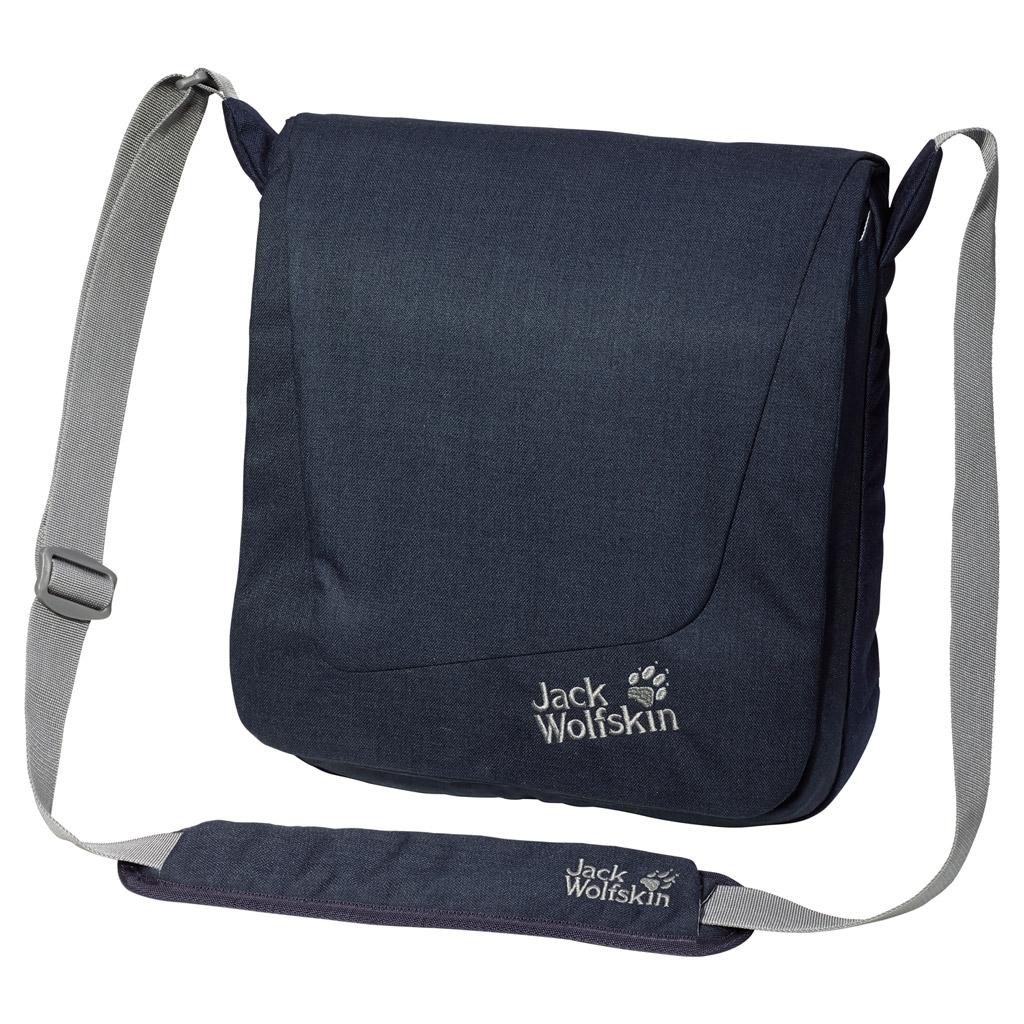 Сумка на плечо Jack Wolfskin REDFERN, цвет: синий, 10 л. 2003681-10102003681-1010Маленькая курьерская сумка с отделением для планшетного компьютера