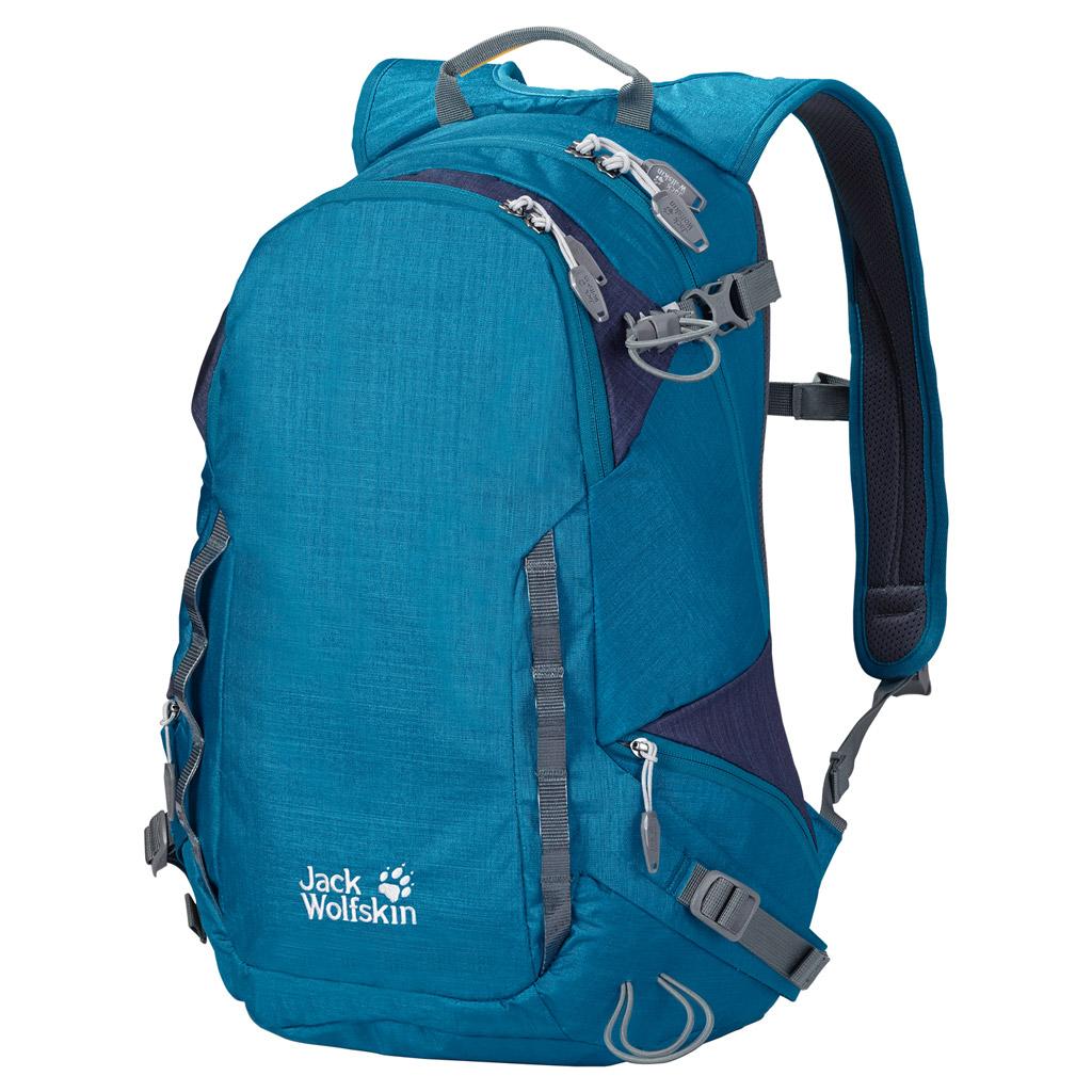 Рюкзак спортивный Jack Wolfskin ROCKSON 24 PACK, цвет: бирюзовый, 24 л. 2004331-10772004331-1077Большой рюкзак на каждый день со спортивным оснащением