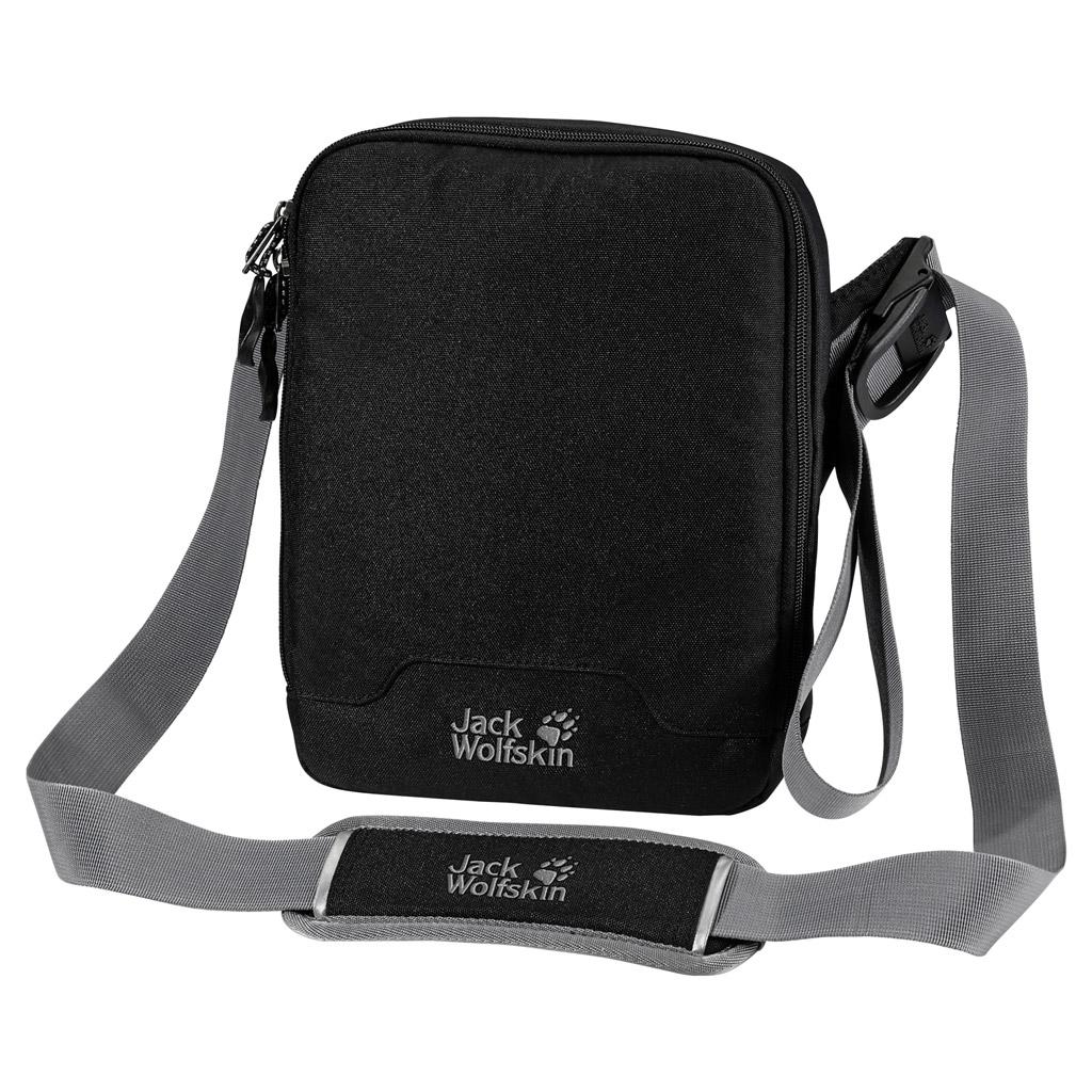 Сумка на плечо Jack Wolfskin GADGETARY, цвет: черный. 8001141-60008001141-6000Сумка через плечо на мягкой подкладке с отделениями для планшетного компьютера и смартфона