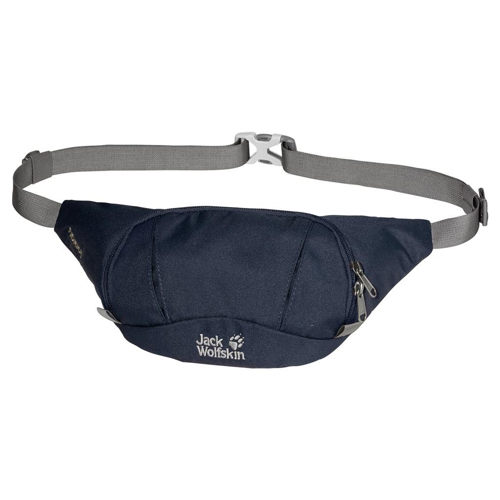 Сумка поясная Jack Wolfskin FIDIBUS, цвет: темно-синий. 86425-101086425-1010Маленькая поясная сумка с потайным карманом