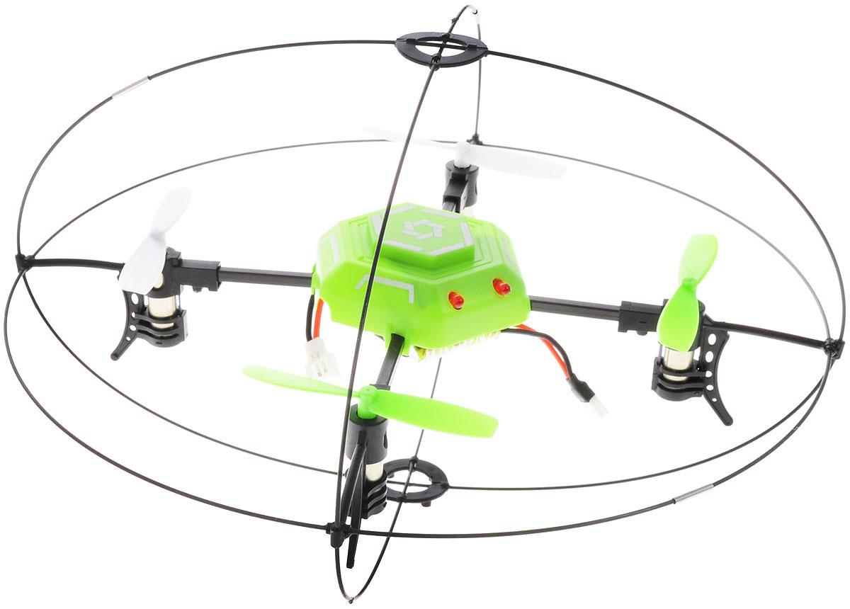 Junfa Toys Квадрокоптер на радиоуправлении Sky Ranger1212SКвадрокоптер Junfa Toys Sky Ranger на радиоуправлении способен вращаться вокруг своей оси на 360 градусов, а также передвигаться вперед/назад, вверх/вниз, поворачивать вправо/влево. Квадрокоптер со светодиодной подсветкой помещен в защитный каркас, в котором он может прыгать, выполнять разные трюки, летать, а также зависать в воздухе. Он также может передвигаться по полу, потолку и стенам. Квадрокоптер оснащен гироскопом для стабильности положения во время полета. Длительность полета составляет около 10 минут. В комплект входит: квадрокоптер, пульт дистанционного управления, 4 запасных винта, аккумулятор и зарядное устройство для аккумулятора с разъемом USB, подробная инструкция на русском языке. Квадрокоптер работает от аккумулятора (входит в комплект). Для работы пульта управления необходимы 4 батарейки типа АА (не входят в комплект).