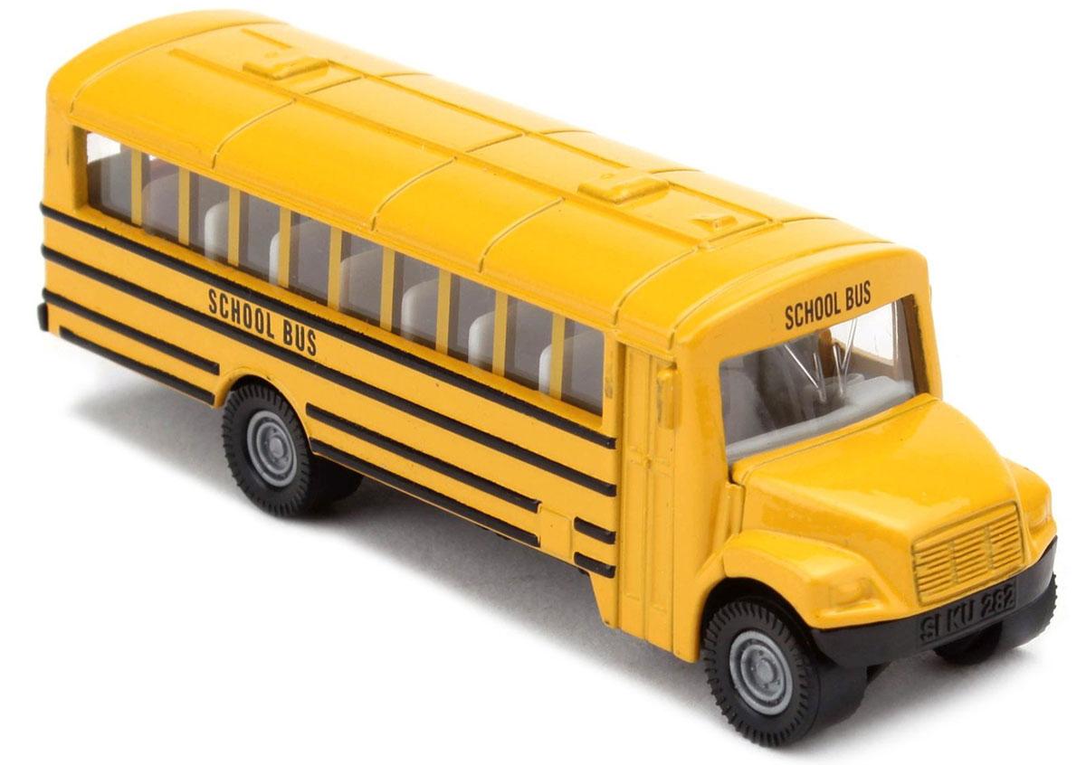 Siku Автобус US School Bus1319Автобус Siku US School Bus обязательно привлечет внимание вашего ребенка. Модель выполнена из металла с элементами из пластика; прорезиненные колеса имеют свободный ход. Автобус станет не только интересной игрушкой для ребенка, но и займет достойное место в коллекции. Порадуйте его таким замечательным подарком!