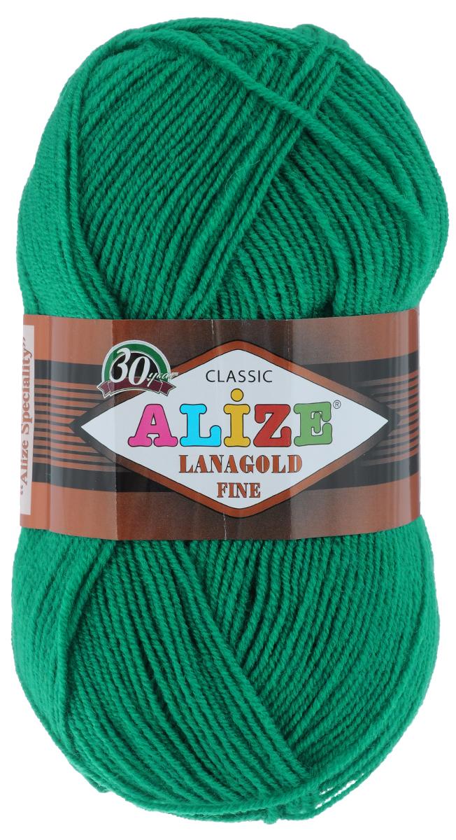 Пряжа для вязания Alize Lanagold Fine, цвет: зеленый (20), 390 м, 100 г, 5 шт547499_20Alize Lanagold Fine - это полушерстяная пряжа для ручного вязания. Нить плотно скручена, гибкая, послушная, не пушится, не электризуется, аккуратно ложится в петли и не деформируется после распускания. Стойкое равномерное окрашивание обеспечивает широкую палитру оттенков, высокое качество материала и используемых красителей защищает от потери цвета. Соотношение шерсти и акрила - формула практичности. Высокие тепловые характеристики сочетаются с эстетикой, носкостью и простотой ухода за вещью. Классическая пряжа для зимнего сезона, может использоваться для детской и взрослой одежды. Alize Lanagold Fine - универсальная пряжа, которая будет хорошо смотреться в узорах любой сложности. Рекомендуемый размер спиц 2,5-4 мм и крючка 1-2 мм. Состав: 49% шерсть, 51% акрил.