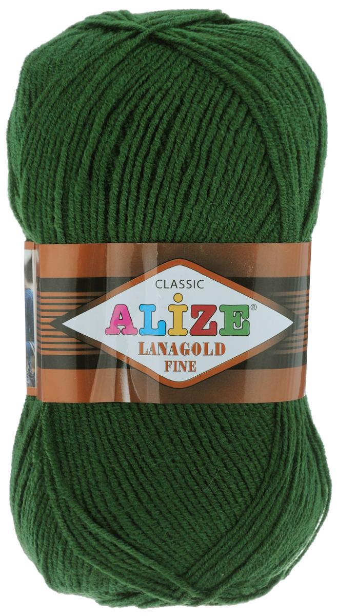 Пряжа для вязания Alize Lanagold Fine, цвет: болотный (118), 390 м, 100 г, 5 шт547499_118Alize Lanagold Fine - это полушерстяная пряжа для ручного вязания. Нить плотно скручена, гибкая, послушная, не пушится, не электризуется, аккуратно ложится в петли и не деформируется после распускания. Стойкое равномерное окрашивание обеспечивает широкую палитру оттенков, высокое качество материала и используемых красителей защищает от потери цвета. Соотношение шерсти и акрила - формула практичности. Высокие тепловые характеристики сочетаются с эстетикой, носкостью и простотой ухода за вещью. Классическая пряжа для зимнего сезона, может использоваться для детской и взрослой одежды. Alize Lanagold Fine - универсальная пряжа, которая будет хорошо смотреться в узорах любой сложности. Рекомендуемый размер спиц 2,5-4 мм и крючка 2-4 мм. Состав: 49% шерсть, 51% акрил.
