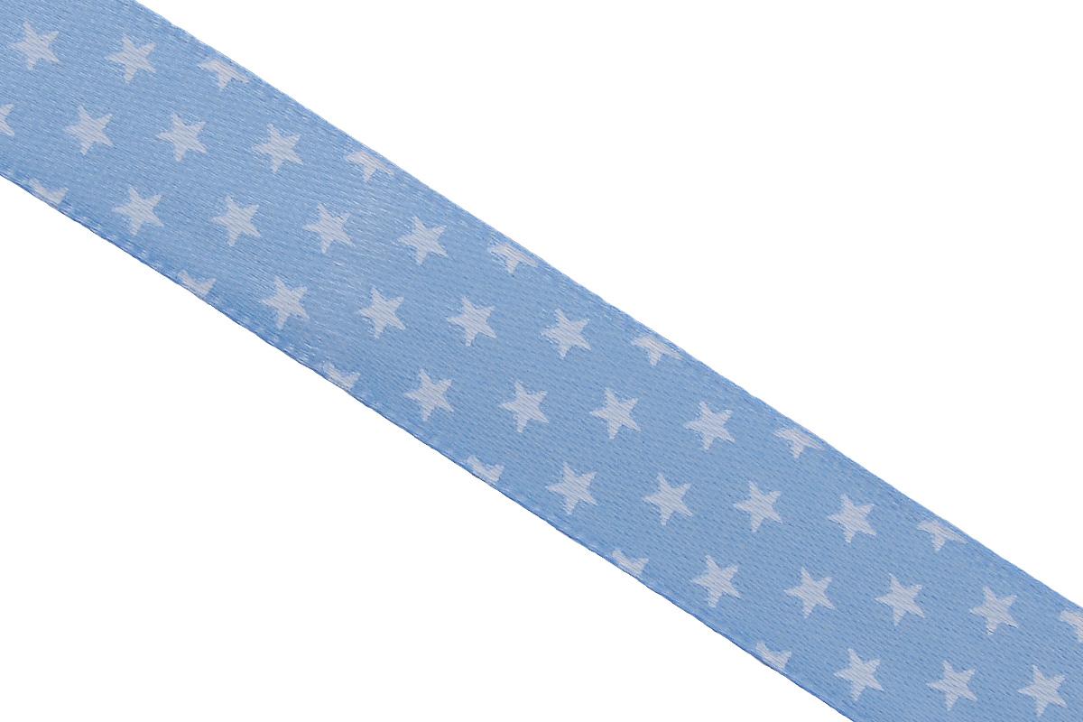 Лента атласная Dekor Line Звездочки, цвет: голубой, белый, 1,5 х 300 см7710558_голубойАтласная лента Dekor Line Звездочки выполнена из высококачественного полиэстера. Область применения атласной ленты весьма широка. Лента предназначена для оформления цветочных букетов, подарочных коробок, пакетов. Кроме того, она с успехом применяется для художественного оформления витрин, праздничного оформления помещений, изготовления искусственных цветов. Ее также можно использовать для творчества в различных техниках, таких как скрапбукинг, оформление аппликаций, для украшения фотоальбомов, подарков, конвертов, фоторамок, открыток и прочего. Ширина ленты: 1,5 см. Длина ленты: 3 м.