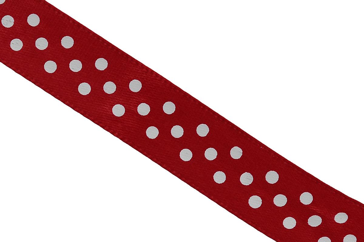 Лента атласная Dekor Line Горошек, цвет: красный, белый, 1,5 х 300 см7710556_красныйАтласная лента Dekor Line Горошек выполнена из высококачественного полиэстера. Область применения атласной ленты весьма широка. Лента предназначена для оформления цветочных букетов, подарочных коробок, пакетов. Кроме того, она с успехом применяется для художественного оформления витрин, праздничного оформления помещений, изготовления искусственных цветов. Ее также можно использовать для творчества в различных техниках, таких как скрапбукинг, оформление аппликаций, для украшения фотоальбомов, подарков, конвертов, фоторамок, открыток и прочего. Ширина ленты: 1,5 см. Длина ленты: 3 м.