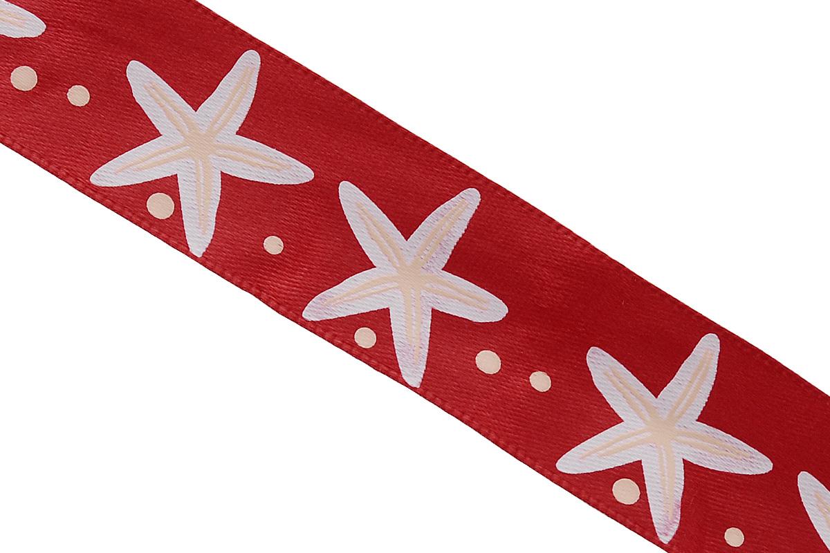 Лента атласная Dekor Line Морская звезда, цвет: красный, белый, 2,5 х 300 см7710568_красныйАтласная лента Dekor Line Морская звезда выполнена из высококачественного полиэстера. Область применения атласной ленты весьма широка. Лента предназначена для оформления цветочных букетов, подарочных коробок, пакетов. Кроме того, она с успехом применяется для художественного оформления витрин, праздничного оформления помещений, изготовления искусственных цветов. Ее также можно использовать для творчества в различных техниках, таких как скрапбукинг, оформление аппликаций, для украшения фотоальбомов, подарков, конвертов, фоторамок, открыток и прочего. Ширина ленты: 2,5 см. Длина ленты: 3 м.