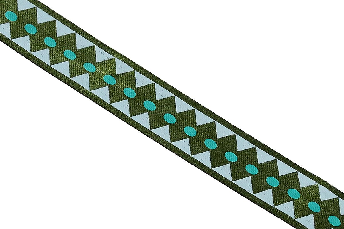 Лента атласная Dekor Line Ромбы, цвет: темно-зеленый, зеленый, 1,5 х 300 см7710559_зеленыйАтласная лента Dekor Line Ромбы выполнена из высококачественного полиэстера. Область применения атласной ленты весьма широка. Лента предназначена для оформления цветочных букетов, подарочных коробок, пакетов. Кроме того, она с успехом применяется для художественного оформления витрин, праздничного оформления помещений, изготовления искусственных цветов. Ее также можно использовать для творчества в различных техниках, таких как скрапбукинг, оформление аппликаций, для украшения фотоальбомов, подарков, конвертов, фоторамок, открыток и прочего. Ширина ленты: 1,5 см. Длина ленты: 3 м.