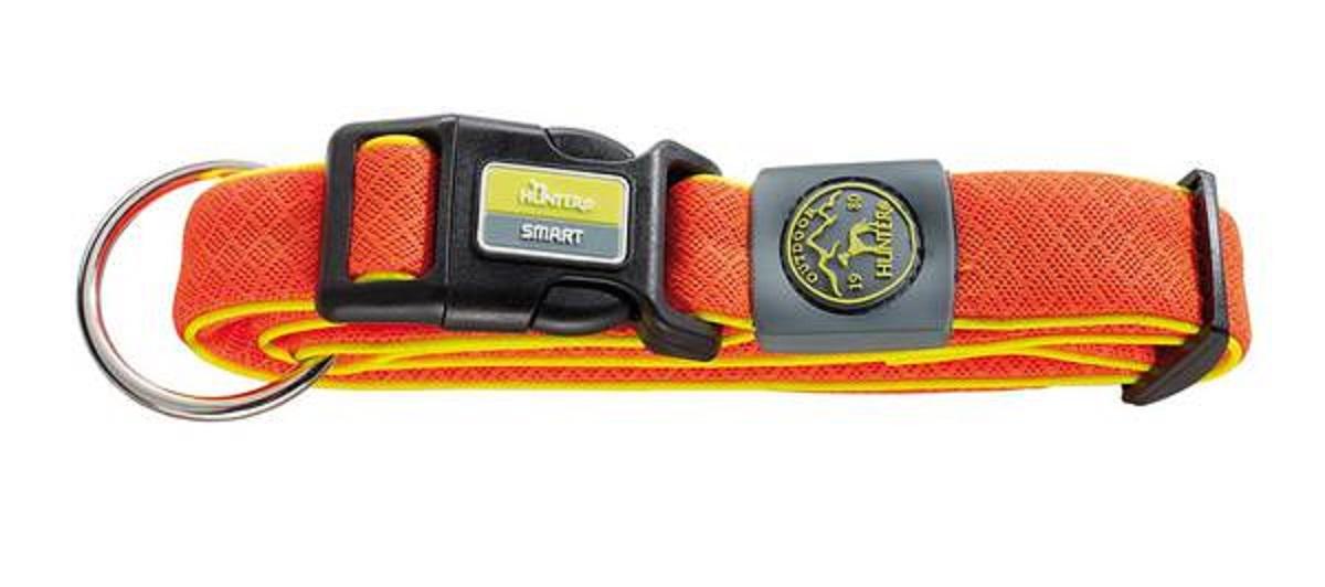 Ошейник для собак Hunter Maui L (42-65 cм) / 4,5 см сетчатый текстиль оранжевый92706Hunter ошейник для собак Maui 42-65 cм сетчатый текстиль оранжевый Ошейник выполнен из невероятно мягкого и легкого текстильного материала. Регулируется по размеру в широком диапазоне. Обхват шеи 42-65 см.