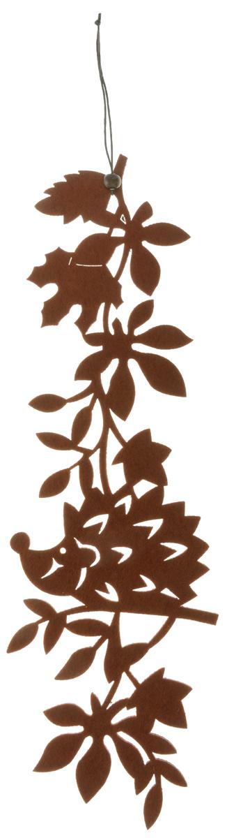 Декоративное подвесное украшение RTO Ежик, цвет: коричневыйHQC-16-4119AДекоративное подвесное украшение RTO Ежик предназначено для создания оригинальных композиций. Украшение оформлено в виде забавного ежика. Декоративное украшение послужит приятным и полезным сувениром для близких и знакомых и, несомненно, доставит массу положительных эмоций своему обладателю. Размер изделия: 39 х 11,5 х 0,3 см.