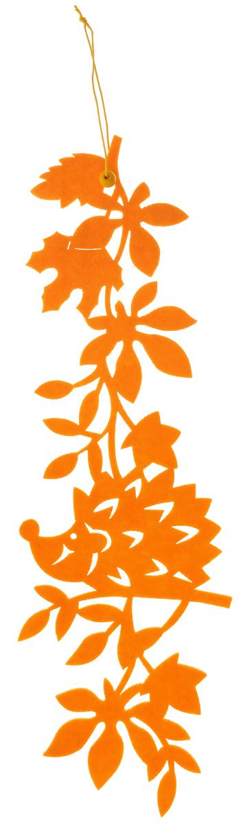 Декоративное подвесное украшение RTO Ежик, цвет: оранжевыйHQC-16-4119BДекоративное подвесное украшение RTO Ежик предназначено для создания оригинальных композиций. Изделие выполнено из фетра и оснащено текстильной петелькой для подвешивания. Украшение оформлено в виде забавного ежика на ветке. Декоративное украшение послужит приятным и полезным сувениром для близких и знакомых и, несомненно, доставит массу положительных эмоций своему обладателю. Размер изделия: 39 х 11,5 х 0,3 см.