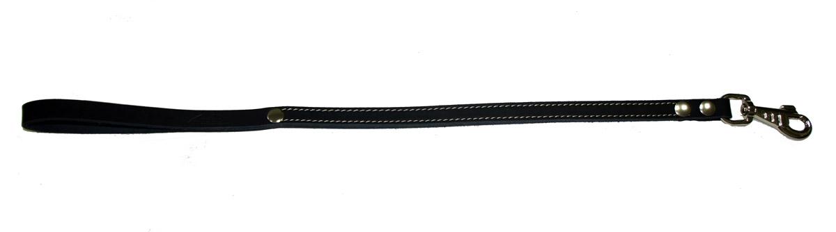 Водилка для собак Аркон Стандарт, цвет: черный, ширина 1,6 см, длина 60 смв16/2чВодилка для собак Аркон Стандарт изготовлена из высококачественной натуральной кожи. Карабин выполнен из сверхпрочного металла. Водилка - это короткий поводок, состоящий из одной ручки с петлей и мощного карабина. Этот поводок используется для ведения большой собаки рядом. Изделие отличается не только исключительной надежностью и удобством, но и привлекательным современным дизайном. Длина водилки: 60 см. Ширина водилки: 1,6 см.