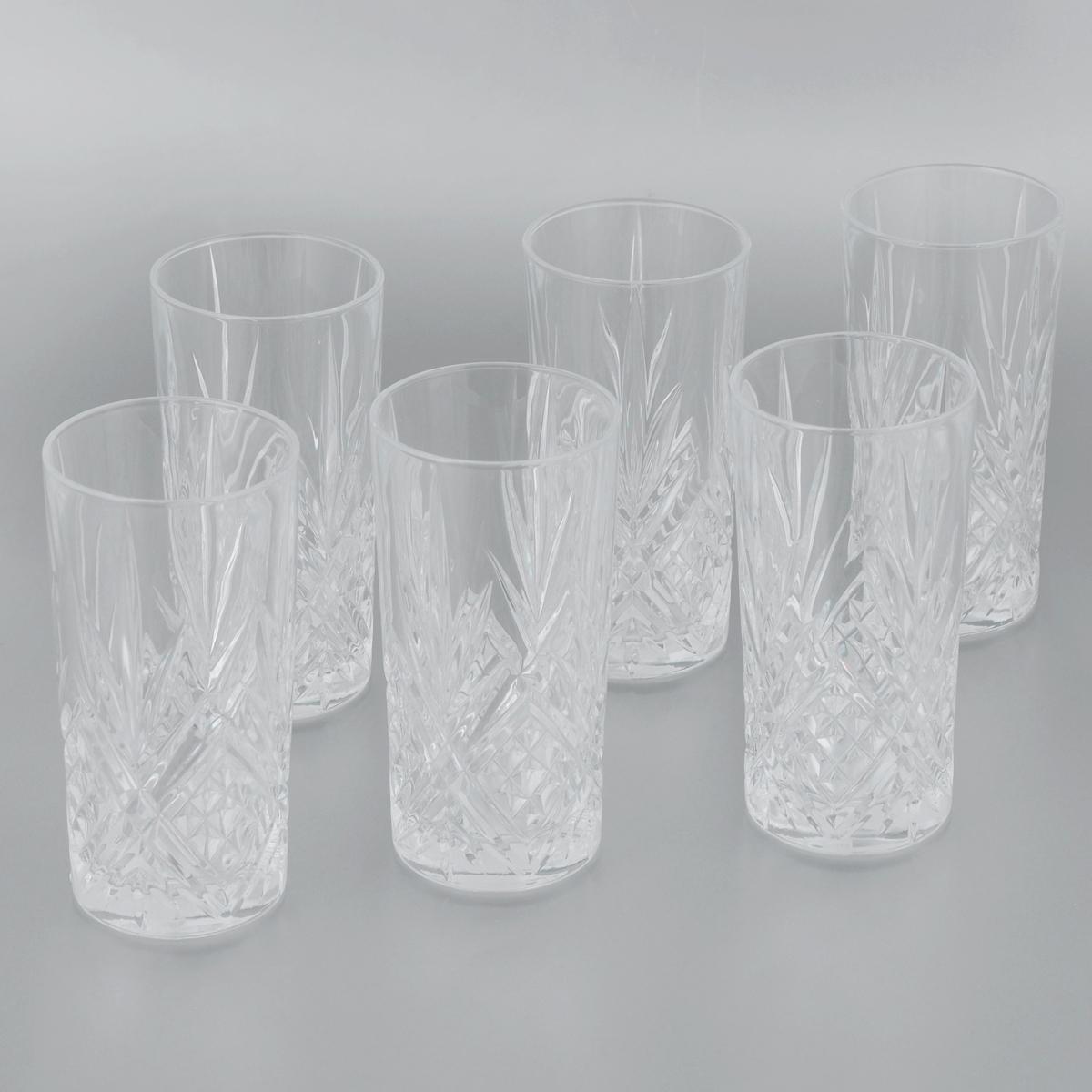 Набор стаканов Cristal Darques Masquerade, 380 мл, 6 штG5549Набор Cristal Darques Masquerade, состоящий из шести высоких стаканов, несомненно, придется вам по душе. Стаканы предназначены для подачи сока, воды и других напитков. Они изготовлены из прочного высококачественного стекла Diamax, отличающегося необыкновенной прозрачностью и великолепным сиянием, и имеют толстое дно. Стаканы сочетают в себе элегантный дизайн и функциональность. Благодаря такому набору пить напитки будет еще вкуснее. Набор стаканов Cristal Darques Masquerade идеально подойдет для сервировки стола и станет отличным подарком к любому празднику. Можно мыть в посудомоечной машине. Высота стакана: 14,5 см. Диаметр стакана по верхнему краю: 7 см.