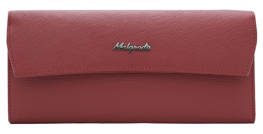 Кошелек женский Malgrado, цвет: красный. 75504-13801D75504-13801DЭлегантный кошелек Malgrado изготовлен из высококачественной натуральной кожи с декоративным фактурным тиснением, оформлен металлической фурнитурой с символикой бренда. Изделие содержит одно отделение, закрывающееся клапаном на кнопку. Внутри расположены: три отделения для купюр, карман для мелочи на застежке-молнии, два кармана для мелких документов, три кармашка для визиток и кредитных карт. Снаружи, на задней стороне кошелька, расположен открытый карман. Изделие упаковано в фирменную металлическую коробку. Стильный кошелек не оставит равнодушной ни одну представительницу прекрасной половины человечества.