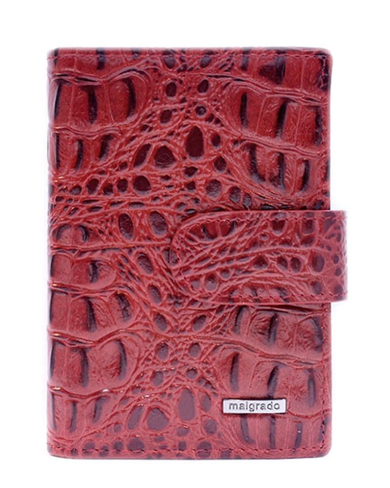 Визитница жен. Malgrado, цвет: красный. 42003-5080142003-50801Стильная визитница Malgrado с веерным открытием изготовлена из натуральной кожи. Внутри содержит прозрачный вкладыш с двадцатью отделениями для кредитных и дисконтных карт. На боковых стенках имеются два дополнительных отделения для пропуска и карт. Закрывается визитница на клапан, на одну из двух кнопок. Такая визитница станет замечательным подарком человеку, ценящему качественные и практичные вещи.