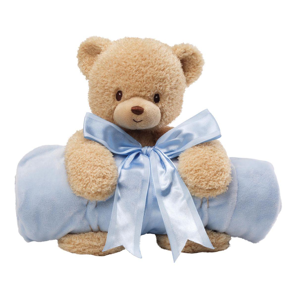 Gund Мягкая игрушка в наборе с полотенцем Мишка цвет голубой4034094Милые, мягкие и безопасные, игрушки фирмы Gund отличаются реалистичным внешним видом, напоминающим настоящего питомца. Только посмотрите на эту милую мордашку, которая так приветливо смотрит на вас. Разве можно устоять перед её обаянием? Конечно нет, да и не нужно! Такая игрушка вызывает умиление не только у детей , но и у взрослых. Поэтому она станет отличным подарком не только ребёнку, но и друзьям!