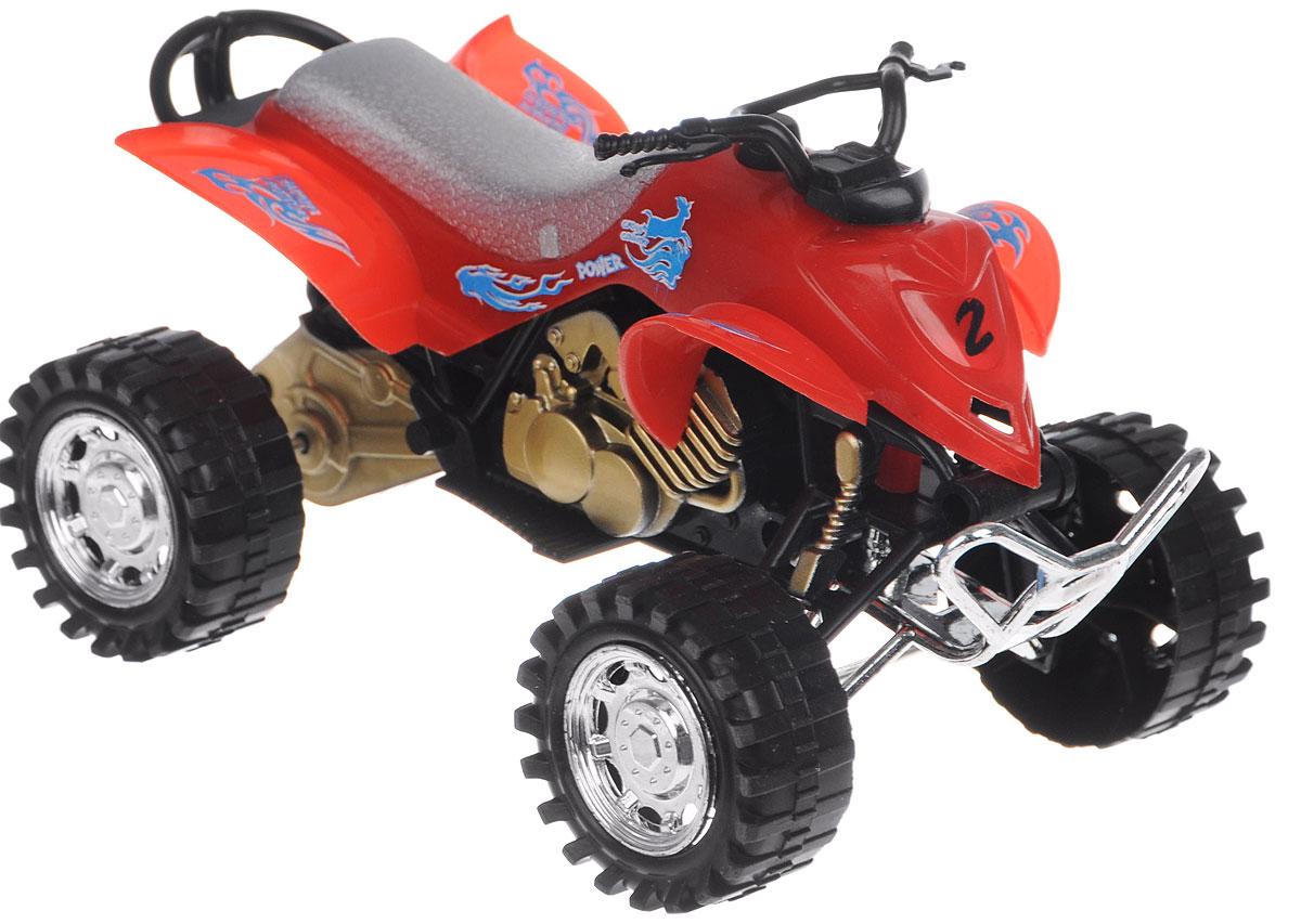 Big Motors Квадроцикл инерционный цвет красный21875-6297-17;6297-17красныйИнерционный квадроцикл Big motors, изготовленный из прочного пластика, привлечет внимание вашего ребенка и не позволит ему скучать. Квадроцикл снабжен кнопкой, при нажатии на которую слышен рокот мотора и мигают огоньки. Игрушка оснащена инерционным ходом. Машинку необходимо подтолкнуть вперед или назад, а затем отпустить - и она быстро поедет в том же направлении. Ваш ребенок будет часами играть с этой игрушкой, придумывая различные истории. Порадуйте его таким замечательным подарком! Для работы игрушки необходимы 3 батарейки типа AG13 (LR44) (товар комплектуется демонстрационными).