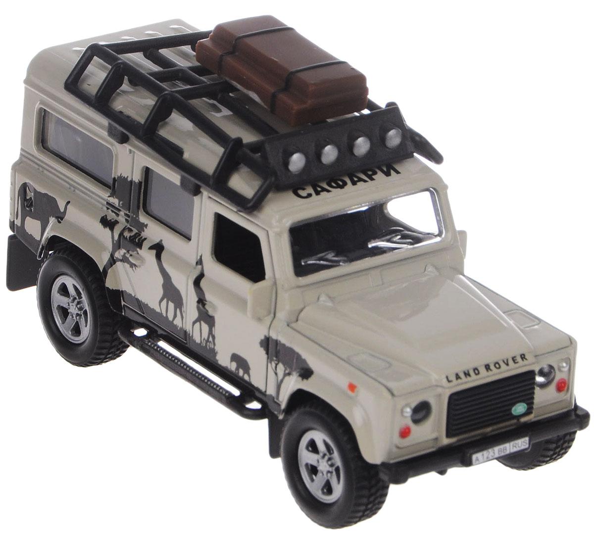 Пламенный мотор Машинка инерционная Land Rover Сафари87512Машинка инерционная Пламенный мотор Land Rover. Сафари - реалистично смоделированная игрушка для маленьких автолюбителей. Отличается хорошей детализацией и качественным видом. В машинку встроен инерционный механизм, который может привезти игрушку в движение, стоит только откатить машинку назад, а затем отпустить. Если нажать на капот, то послышится звук мотора и музыка, засветятся фары. Передние двери открываются. Машинка подойдет для игры как дома, так и на улице. Выполнена из качественных материалов, которые не вредят здоровью ребенка. Рекомендуется докупить 3 батарейки типа LR41 (товар комплектуется демонстрационными).