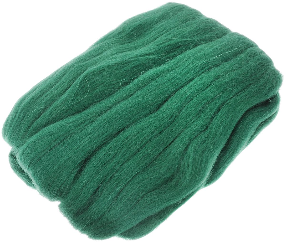 Шерсть для валяния RTO, цвет: темно-зеленый (17), 50 гWF50/17Шерсть для валяния RTO идеально подходит для сухого и мокрого валяния. Шерсть RTO не линяет при валянии и последующей стирке, легко расчесывается и разделяется на пряди. Готовые изделия из натуральной шерсти RTO хорошо поддаются покраске и тонированию. Валяние шерсти - это особая техника рукоделия, в процессе которой из шерсти для валяния создается рисунок на ткани или войлоке, объемные игрушки, панно, декоративные элементы, предметы одежды или аксессуары. Только натуральная шерсть обладает способностью сваливаться или свойлачиваться.