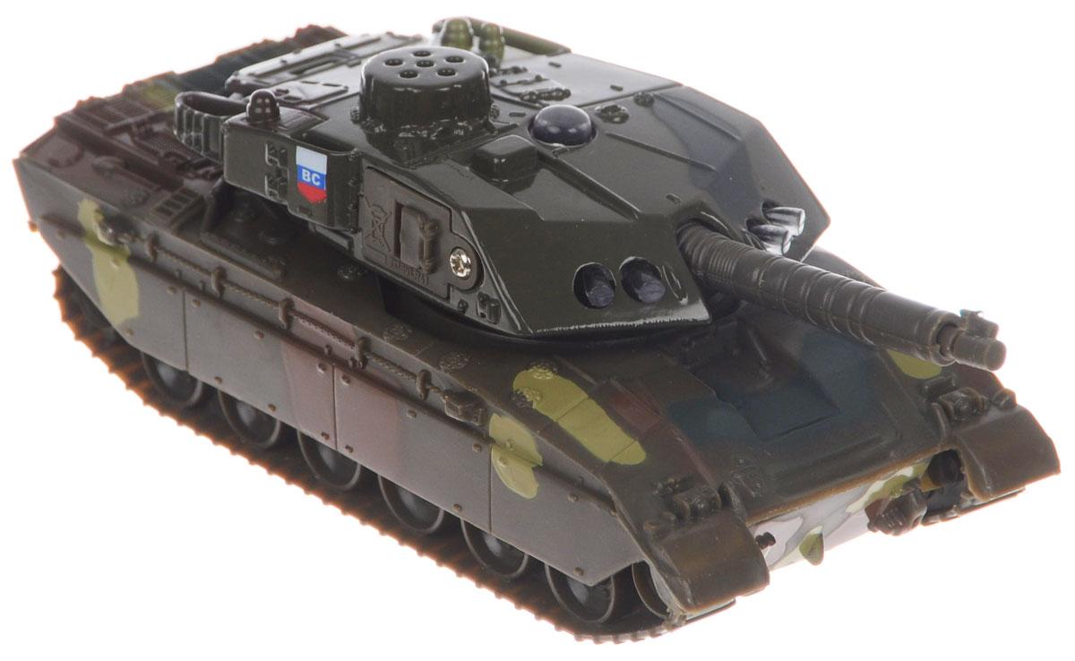ТехноПарк Танк Т-90 инерционныйSL457WBТанк Т-90 ТехноПарк, выполненный из прочного пластика, станет любимой игрушкой вашего малыша. Игрушка представляет собой танк, оснащенный поворачивающейся на 360 градусов башней, выдвигающейся и поднимающейся пушкой. При нажатии на кнопку на башне включается подсветка и звучат команды танкиста. Ваш ребенок будет часами играть с этой машинкой, придумывая различные истории. Порадуйте его таким замечательным подарком! Игрушка работает от незаменяемых батареек.