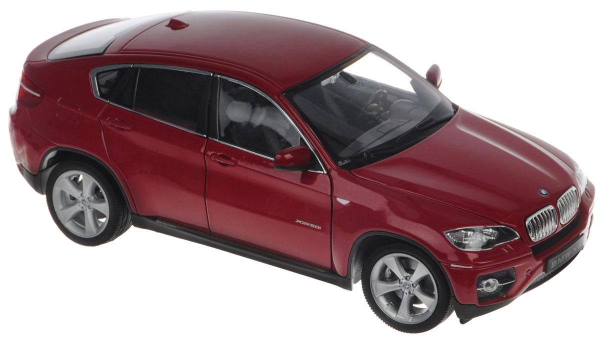 Welly Модель автомобиля BMW X624004Модель автомобиля Welly BMW X6 - отличный подарок как ребенку, так и взрослому коллекционеру. Благодаря броской внешности, а также великолепной точности, с которой создатели этой модели масштабом 1:24 передали внешний вид настоящего автомобиля, модель станет подлинным украшением любой коллекции авто. Машина будет долго служить своему владельцу благодаря металлическому корпусу с элементами из пластика. Передние дверцы машины открываются, шины обеспечивают отличное сцепление с любой поверхностью пола. Модель автомобиля Welly BMW X6 обязательно понравится вашему ребенку и станет достойным экспонатом любой коллекции.