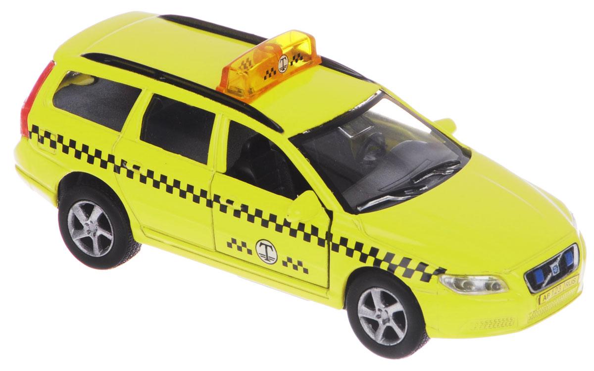 Пламенный мотор Машинка инерционная Volvo Такси87499Машинка инерционная Пламенный мотор Volvo. Такси, выполненная из пластика и металла, станет любимой игрушкой вашего малыша. Машина представляет собой автомобиль такси марки Volvo. Авто оснащено звуковыми и световыми эффектами, а также открывающимися дверьми. Имеется инерционный ход: машинку необходимо отвести назад, затем отпустить - и она быстро поедет вперед. Прорезиненные колеса обеспечивают надежное сцепление с любой поверхностью пола. Ваш ребенок будет часами играть с этой машинкой, придумывая различные истории. Порадуйте его таким замечательным подарком! Рекомендуется докупить 3 батарейки типа LR41 (товар комплектуется демонстрационными).