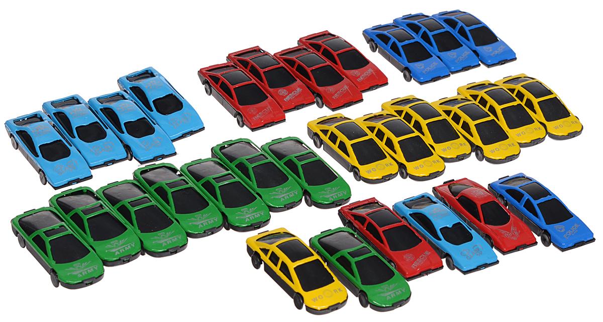S+S Toys Набор машинок Auto World658659/BA-1330Набор машинок Auto World приведет в восторг любого мальчишку! В наборе 30 маленьких машинок разного цвета и дизайна. Корпус моделей выполнен из прочного безопасного пластика. Колесики машинок вращаются. В наборе машинки желтого, зеленого, красного, синего и голубого цвета. Ваш ребенок будет часами играть с машинками, придумывая различные истории и ролевые игры. С таким количеством машинок можно играть как одному, так и в компании друзей. Игровой набор Auto World поможет обеспечить увлекательный досуг и не позволит мальчишкам скучать. Порадуйте своего малыша такой интересной игрушкой!