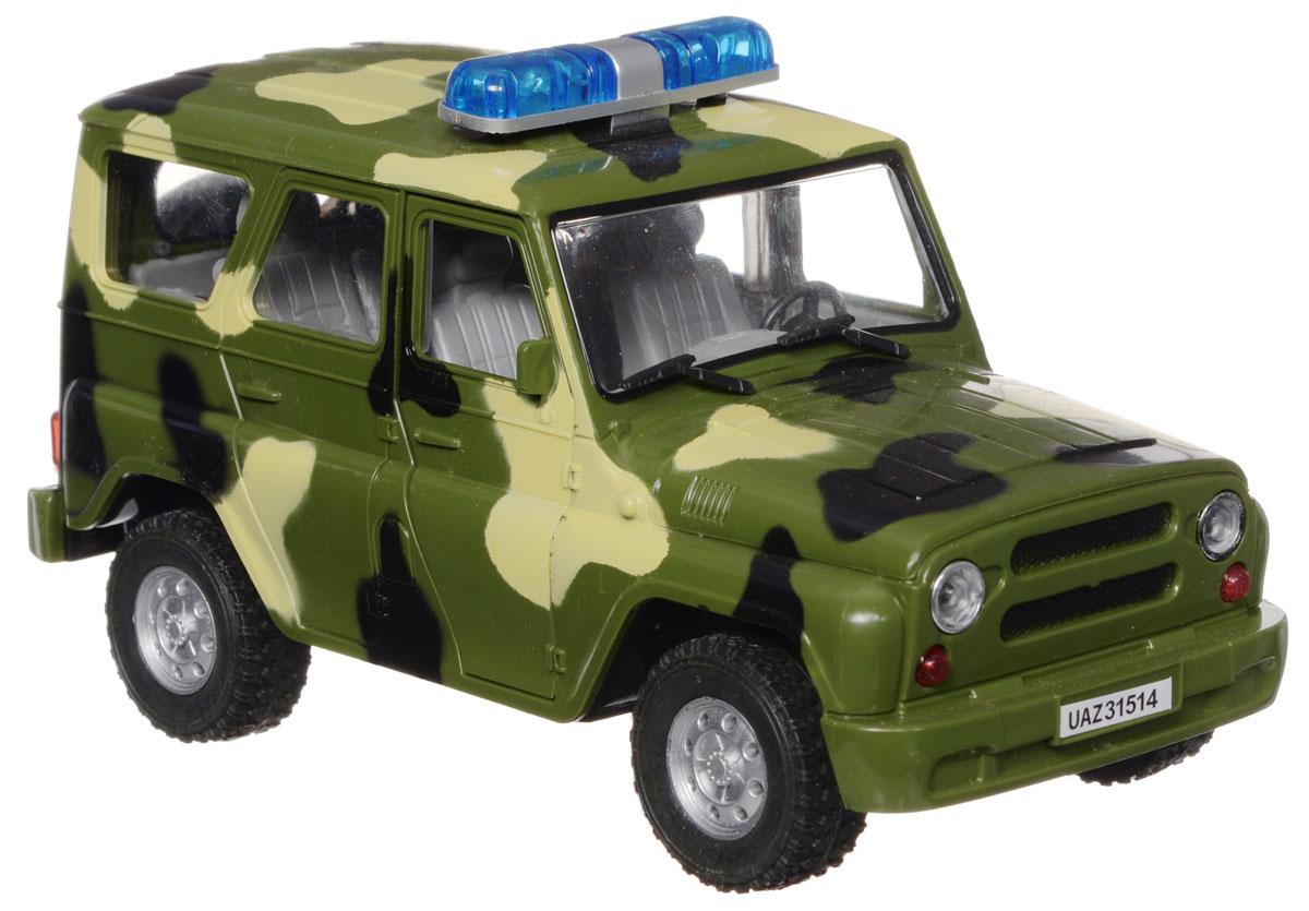 Joy Toy Машина инерционная УАЗ Военная полицияA071-H11003Инерционная машина Joy Toy УАЗ: Военная полиция станет любимой игрушкой вашего малыша. Игрушка выполнена в виде модели автомобиля УАЗ Военная полиция в масштабе 1:24. Дверцы и багажник машины открываются, салон детализирован. При открытии дверцы машины мигают фары и раздается звук сигнализации и клаксона. Игрушка оснащена инерционным ходом. Машину необходимо подтолкнуть вперед или назад, а затем отпустить - и она быстро поедет в том же направлении. Ваш ребенок будет часами играть с этой игрушкой, придумывая различные истории. Порадуйте его таким замечательным подарком! Для работы игрушки необходимы 3 батарейки типа AG13 (LR44) (товар комплектуется демонстрационными).