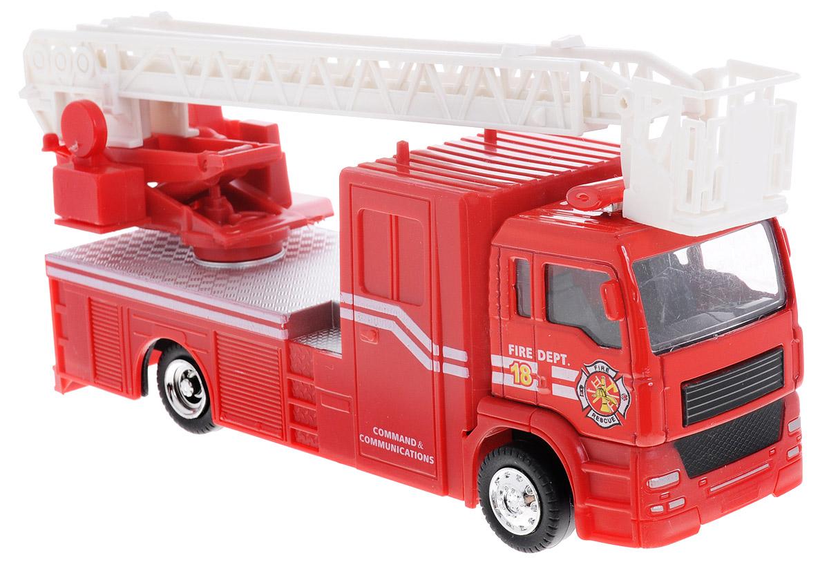 Big Motors Пожарная машина инерционная цвет красный белый22990-81016;JL81016Пожарная машина Big Motors, выполненная из пластика и металла, станет любимой игрушкой вашего малыша. Машинка оснащена инерционным ходом. Ее необходимо отвести назад, затем отпустить - и она быстро поедет вперед. Колеса обеспечивают надежное сцепление с любой гладкой поверхностью. Игрушка имеет световые и звуковые эффекты. Ваш ребенок будет часами играть с этой игрушкой, придумывая различные истории. Порадуйте его таким замечательным подарком! Рекомендуется докупить 3 батарейки типа LR44 (товар комплектуется демонстрационными).