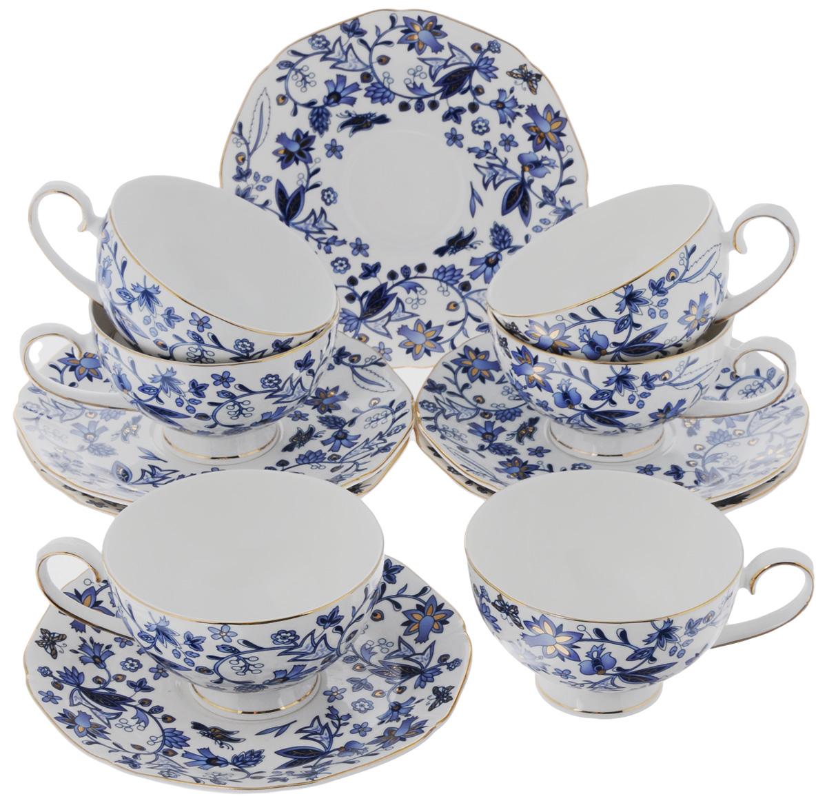 Набор чайный Elan Gallery Изысканность, 12 предметов801069Чайный набор Elan Gallery Изысканность состоит из 6 чашек и 6 блюдец. Изделия, выполненные из высококачественной керамики, имеют элегантный дизайн и классическую круглую форму. Такой набор прекрасно подойдет как для повседневного использования, так и для праздников. Чайный набор Elan Gallery Изысканность - это не только яркий и полезный подарок для родных и близких, а также великолепное решение для вашей кухни или столовой. Не использовать в микроволновой печи. Объем чашки: 250 мл. Диаметр чашки (по верхнему краю): 10 см. Высота чашки: 6,5 см. Размер блюдца (по верхнему краю): 16,5 х 16,5 см. Высота блюдца: 2 см.